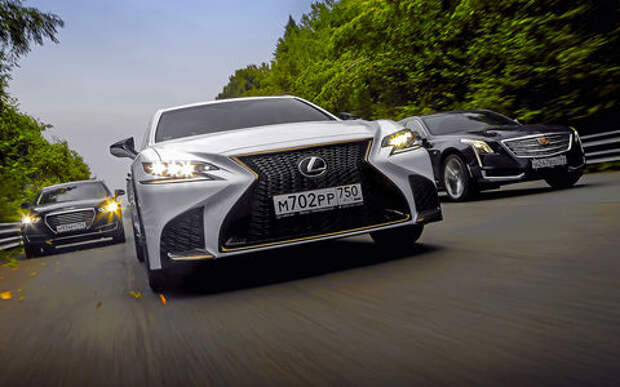 Большой тест престижных седанов: новый Lexus LS 500 и конкуренты
