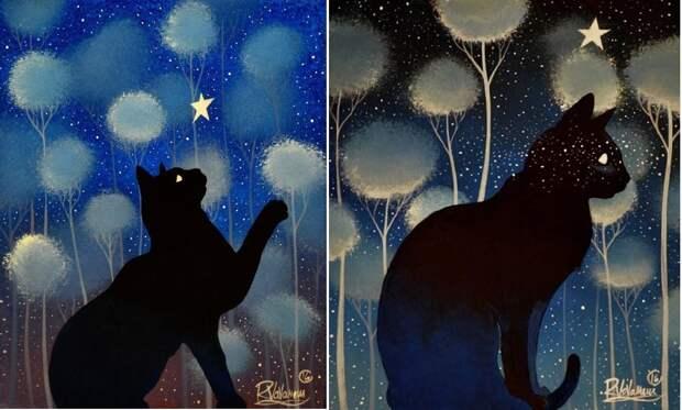 Еще один кошачий художник