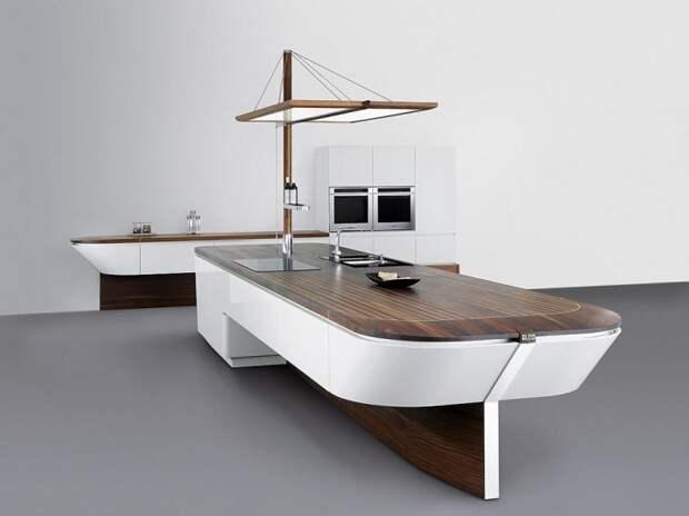 корабль на кухне вместо острова