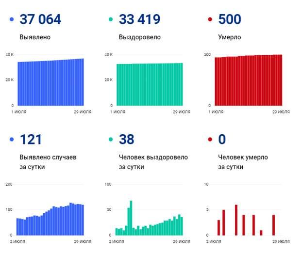 Коронавирус в Томской области: статистика на 30 июля