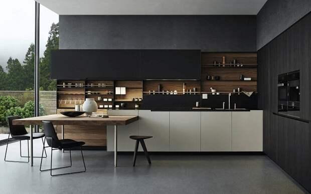 Шикарная и очень большая кухня в доме, что станет просто отличным решением для преображения пространства.