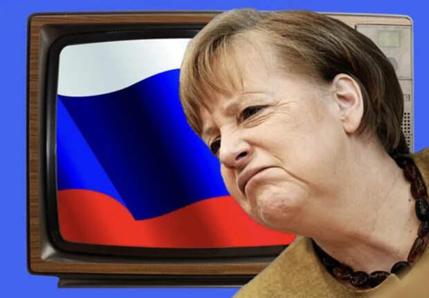 Меркель прогнулась подроссийскую пропаганду
