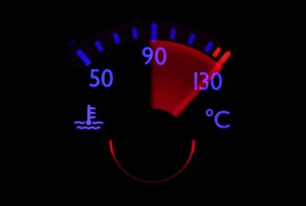 уход стрелки температуры в красную зону