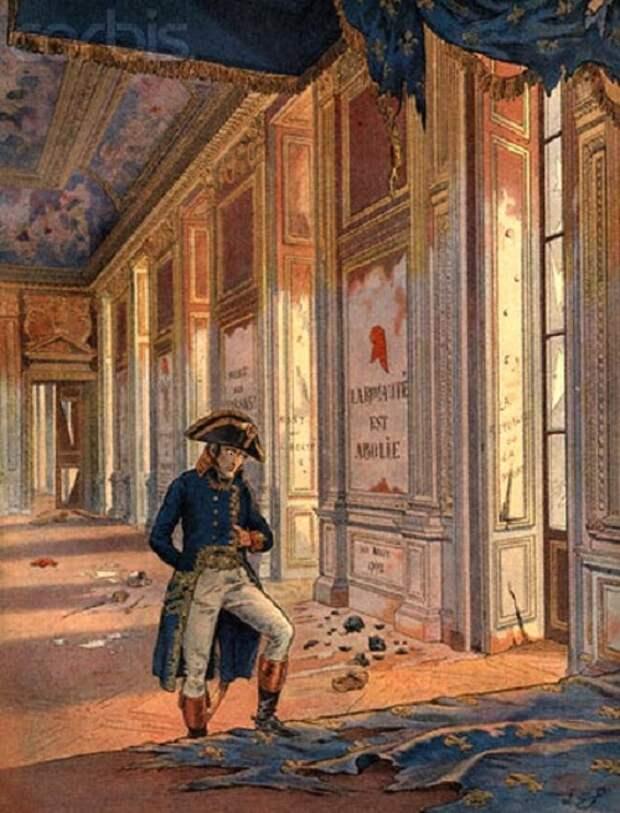 Наполеон во дворце Тюильри после разгрома.   Фото: dotart.info.