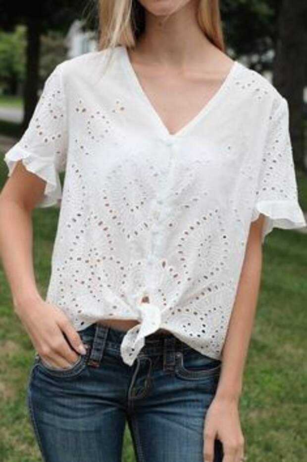 30 летних кэжуал блузки из шитья (подборка)