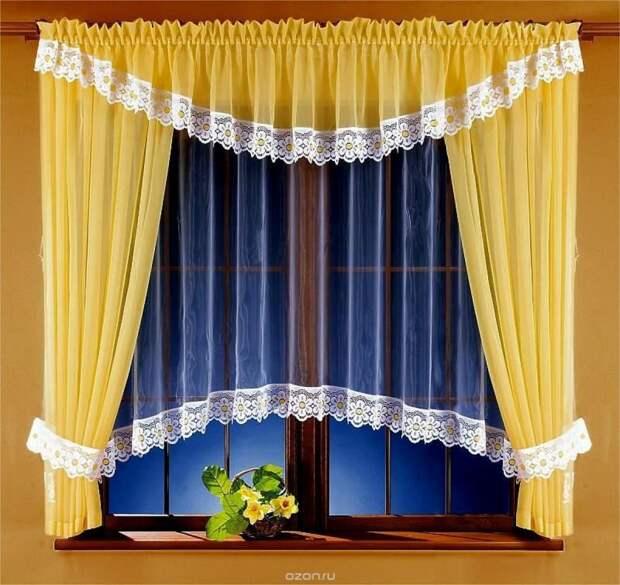 Украшаем окна шторами