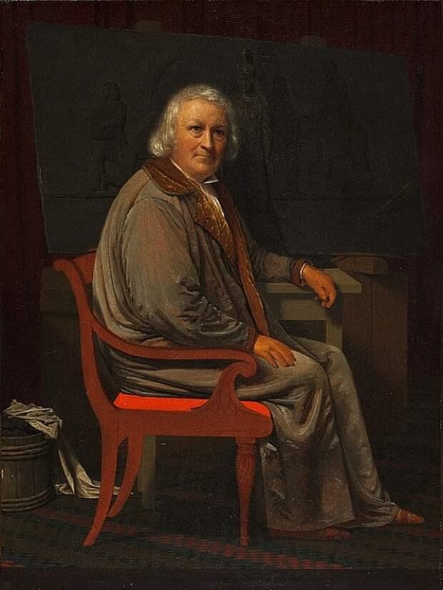 Портрет Торвальдсена. (1839 год).  Автор: Иоган Гертнер.