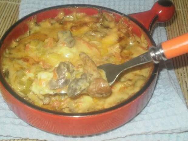 Рецепт приготовления куриных сердечек в сырном соусе