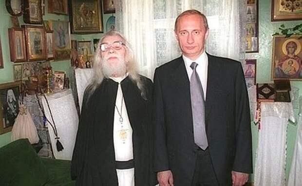 Иоанн Крестьянкин и Владимир Путин, 2000 год