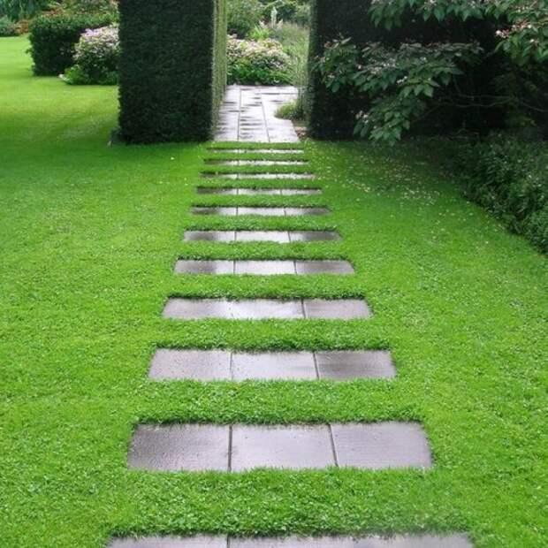 Садовые дорожки, которых так не хватает на наших лужайках перед домом