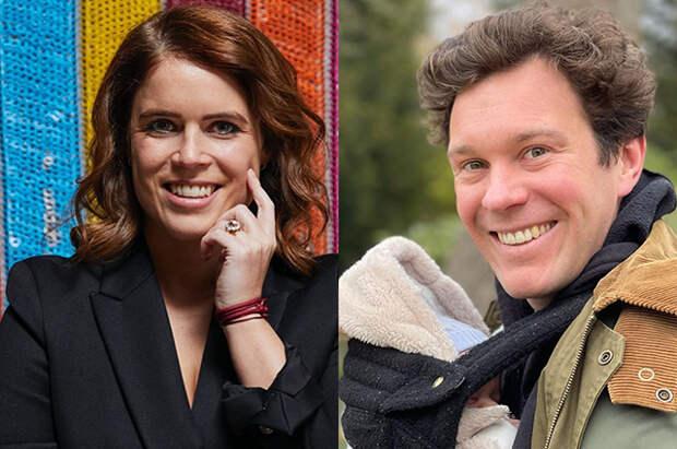 Принцесса Евгения поздравила мужа Джека Бруксбэнка с днем рождения и поделилась новым снимком их сына