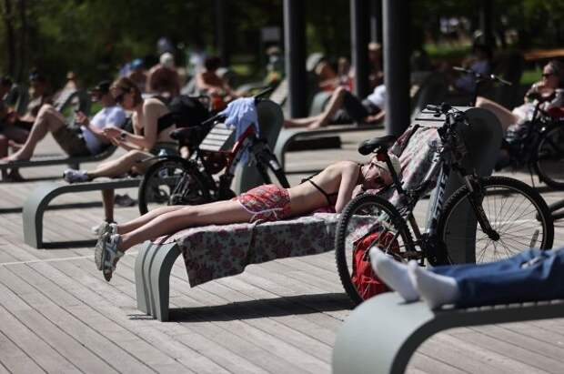 В Москве установилась рекордная жара