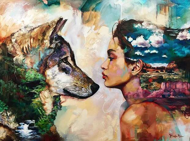 Сказочные картины шестнадцатилетней художницы Димитры Милан
