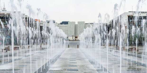 На Ходынке заработал фонтан