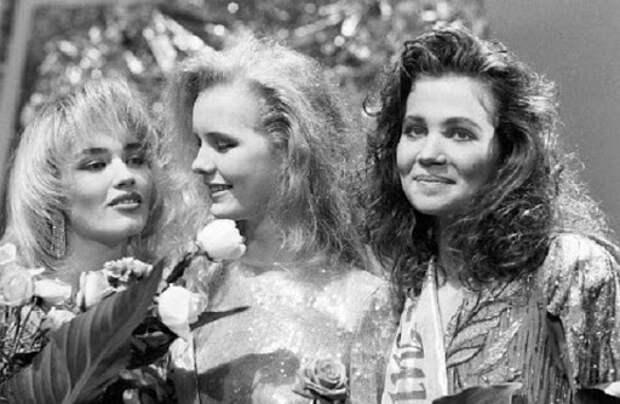 Фотоархив СССР, на фотографии: Милые лица финалисток конкурса Мисс ...