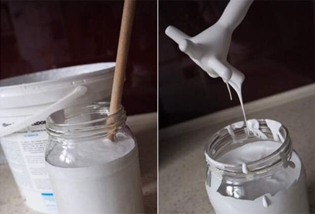 Меловая краска для мебели своими руками