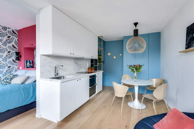Секреты эргономичного интерьера в квартире площадью 25 м2