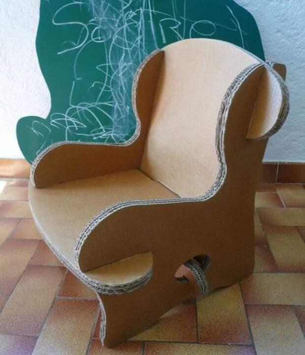 Картонный дачный стульчик
