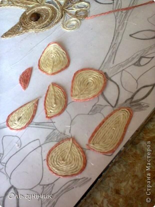 Картина панно рисунок Мастер-класс Моделирование конструирование Филигранный павлин МК Шпагат фото 26