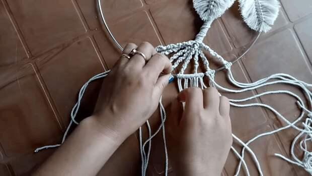 Эффектное панно из обычной веревки: техника, подвластная даже новичку