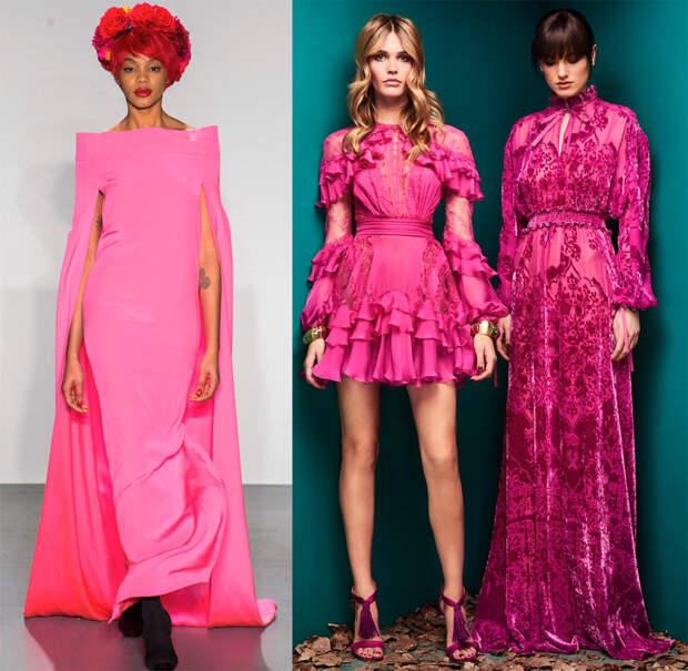 Вечерние и повседневные платья розовых оттенков