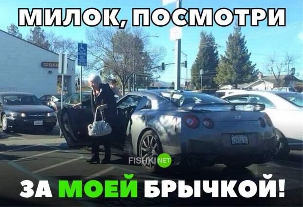 Милок, посмотри за моей брычкой! авто, автомобили, автоприкол, автоприколы, подборка, прикол, приколы, юмор