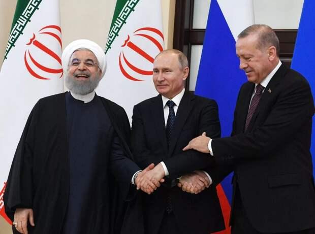 Переговоры Путина, Роухани и Эрдогана: Запад в стороне, Россия на коне