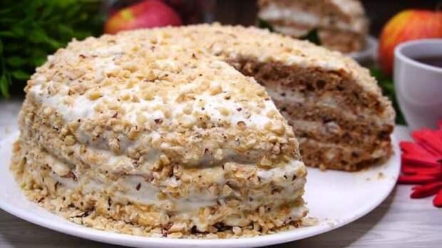 Торт Белочка. Аппетитный десерт с орехами