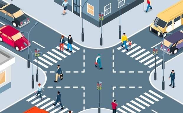 Новая разметка для пешеходных переходов появится в Москве