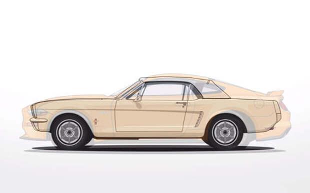 Ford Mustang — вся история за 2 минуты видео