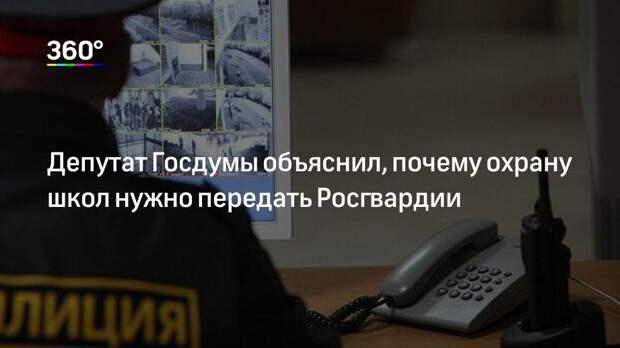 Депутат Госдумы объяснил, почему охрану школ нужно передать Росгвардии