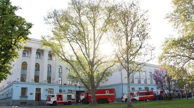 В Совете министров Республики Крым прошли пожарно-тактические учения