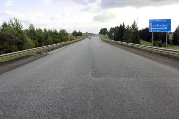 Более 7 км дороги Ижевск-Сарапул отремонтировали в Удмуртии