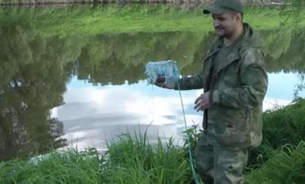 Как поймать рыбу без удочки на бутылку