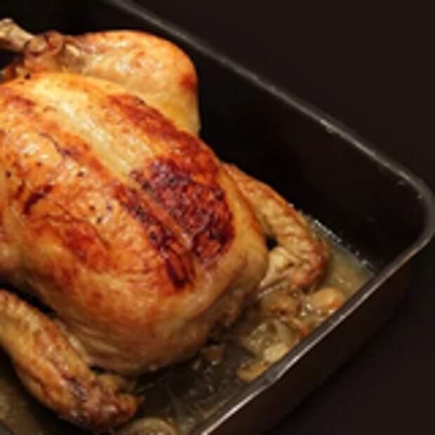 Запечённая курица в духовке от джулии чайлд.