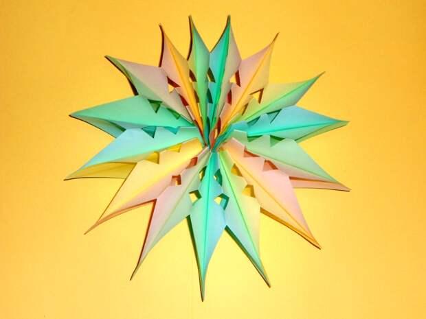 Новогоднее украшение из бумаги Новогодняя игрушка