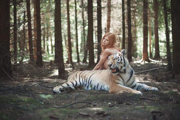 Фотограф Ольга Баранцева снимает портреты с настоящими животными