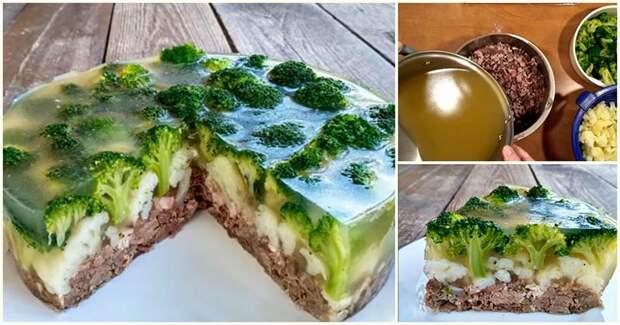 Закусочный мясной торт «Леший» — невероятная подача праздничного блюда