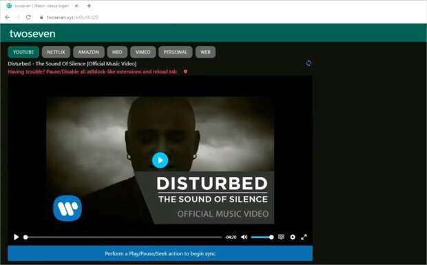 TwoSeven video web app