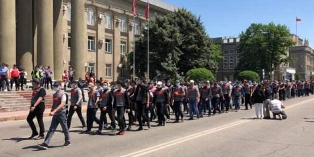 ВБишкеке состоялся митинг против митингов