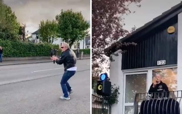 Шотландец 2,5 месяца устраивал концерты, чтобы соседи не унывали в изоляции