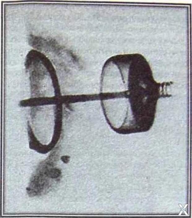 Рентгеновский снимок артефакта Косо