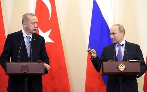 Путин заявил о заключении судьбоносных соглашений с Турцией по Сирии