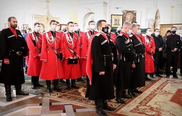 Казаки Кубани почтили память Святого благоверного князя Александра Невского