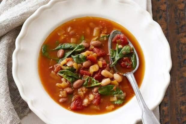 Суп из томатов и белой фасоли. Ароматное первое блюдо за 30 минут 2
