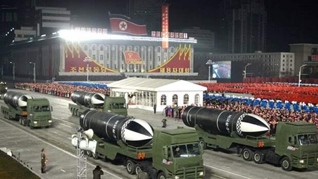 Северная Корея представила на параде баллистическую ракету для подлодок