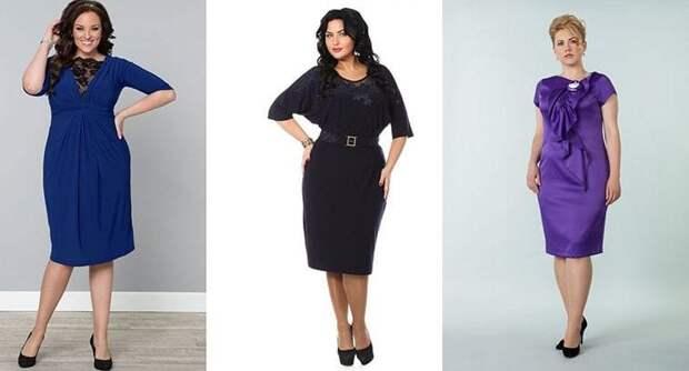 Вечерние платья для полных женщин   Примеры и правила выбора