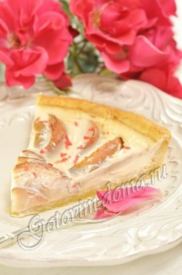 Яблочный пирог со сливками фото 9