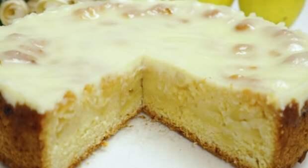Не пирог, а сказка. Нежнейший яблочный пирог – торт. Все дело в заливке