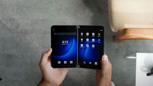Microsoft представила складывающийся смартфон Surface Duo 2